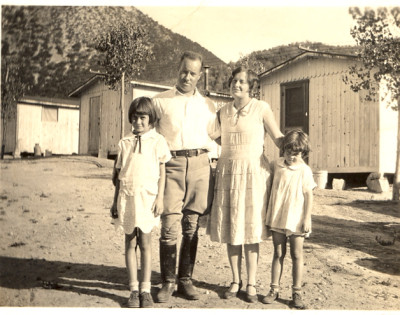 Ruthie on the left, with her father, mother, and sister Jessamyn, 1926