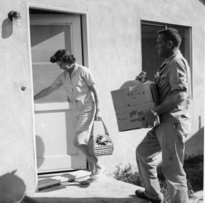 Moving into the house, 1961