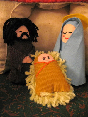 Nativity set figures made by my mom